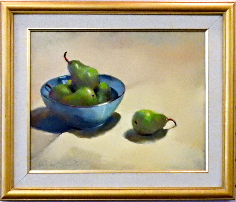 Blue Bowl With Pears by Shirley Peel