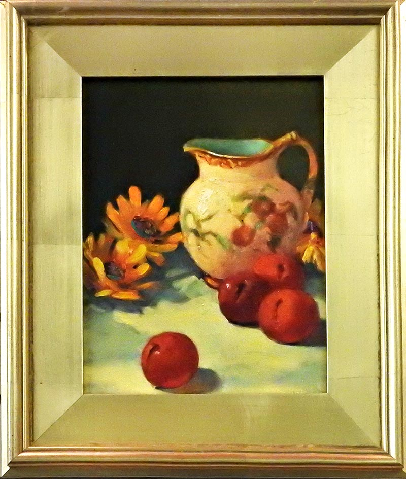 Mexican Pitcher With Fruit by Shirley Peel