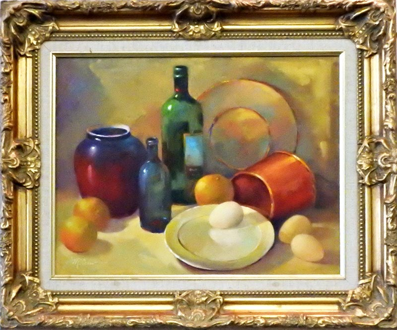 Still Life With Eggs by Shirley Peel