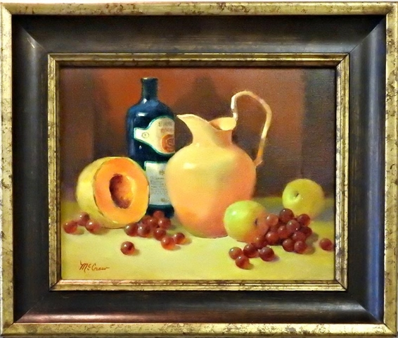 Still Life With Orange Pitcher by Shirley Peel