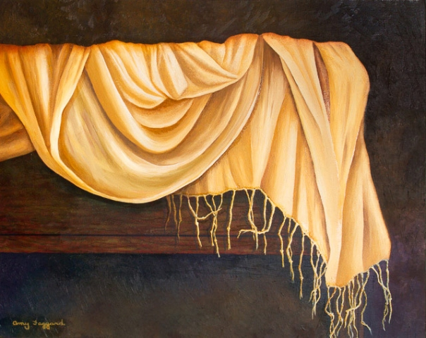 Drapery Study #1  Oil by Amy Faggard