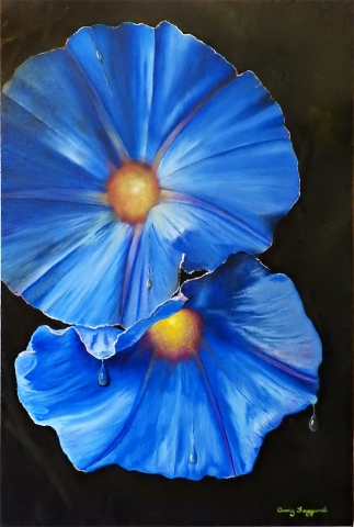 Morning Glory Day  Oil by Amy Faggard