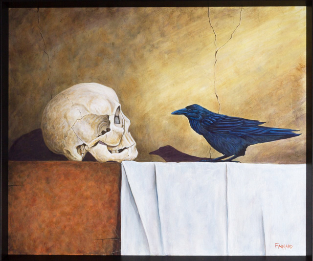 Nevermore  Oil by Albert Faggard