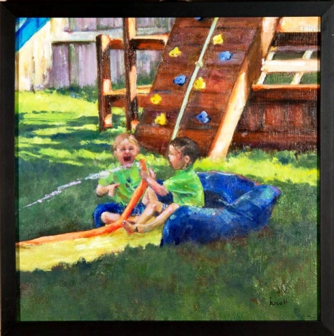 Pals for Life - First Place  Oil be Barbara Noll