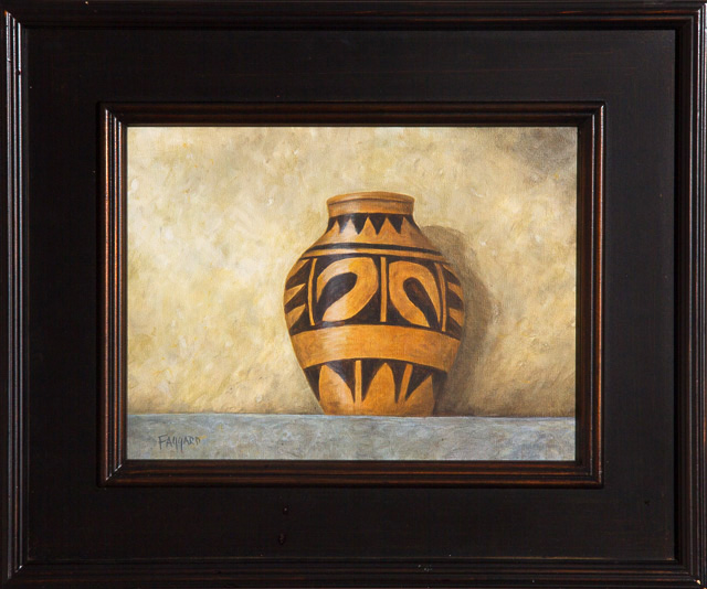 Zuni Pottery  Oil by Albert Faggard