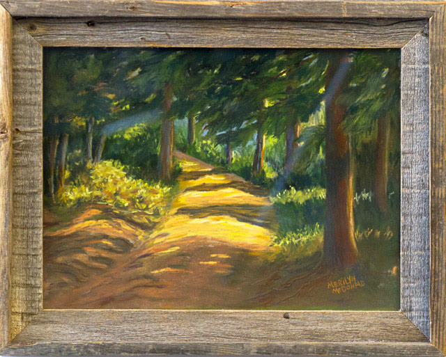 A Road in the Woods by Merilyn McDonald, Pastel, $150