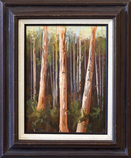 Aspen Trees by Jane Martin, Oil, $125