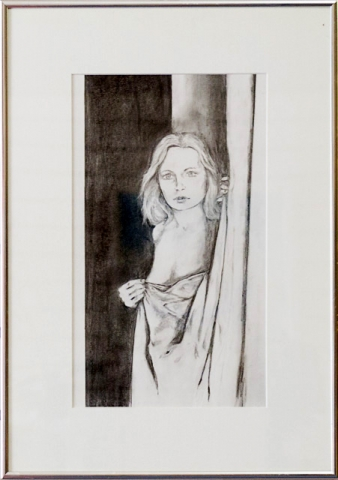 At the Window by Danny Clements, Graphite, $275
