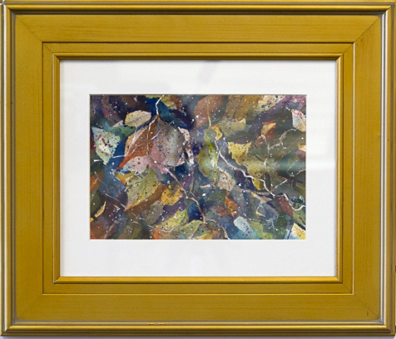 Autumn Confetti I by Elaine LeBlanc, Watercolor, $245