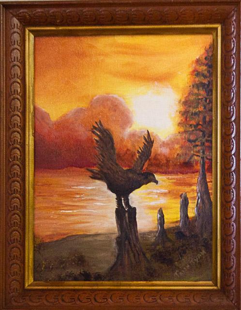 Eagle Landing by Trish Ryan, Oil, $100