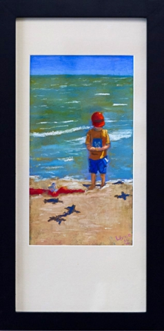 Little Beach Comber by Lynnette Brice, Pastel, $250