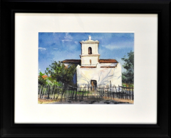 "Alamo Village 9x12"" Watercolor by Calvin Carter, $800"