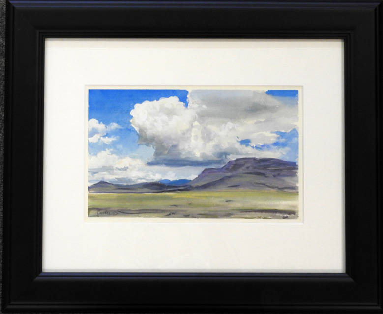 Cloudy Sky Study Watercolor by Calvin Carter, $400