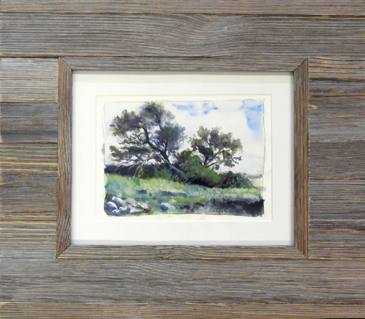 Landscape Study Watercolor by Calvin Carter, $400