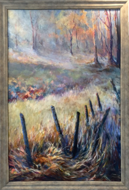 Honorable Mention - Misty Morn by Elaine LeBlanc, Oil, $595