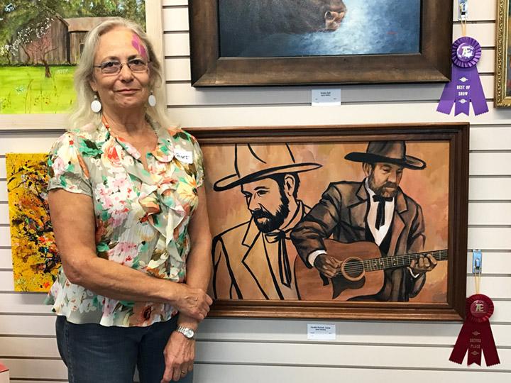 Second Place  Double Portrait by Janet Clements