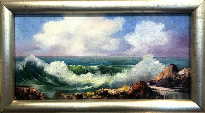 "Honorable Mention - ""The Sea"" by Barbara Haviland, Oil, $200"