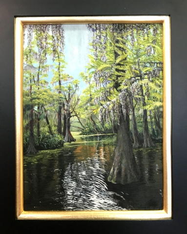 "First Place - ""Cow Bayou"" by Gayle Pugh, Acrylic, $250"