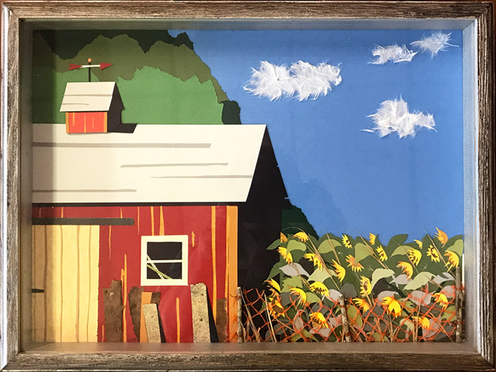 "Honorable Mention - by Suzanne Nielson, ""Sunny Summer Days, Collage, $60"